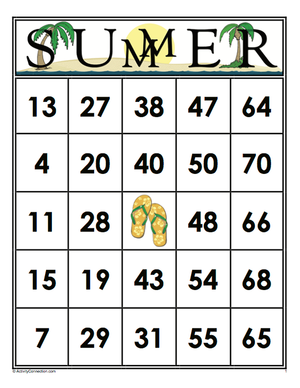 SUMMER<br>Bingo Cards<br><b>digital download</b>