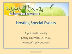Hosting Special Events: 4 CE Hours