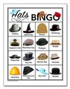 Hats Picture<br>Bingo Cards<br><b>digital download</b>