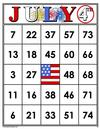 35 July 4th Bingo Cards