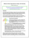 Effective Activity Approaches for People with Dementia: 4 CE Hours