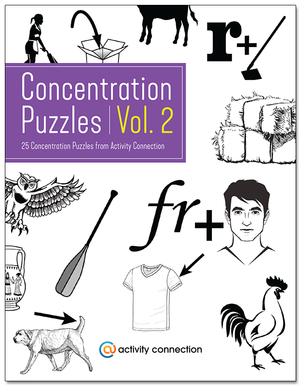 25 Concentration Puzzles Vol. 2<br><b>digital download</b>