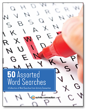 50 Assorted Word Searches<br><b>digital download</b>