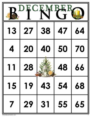 December<br>Bingo Cards<br><b>digital download</b>