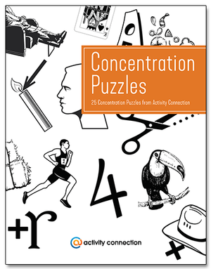 25 Concentration Puzzles<br><b>digital download</b>