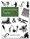25 Concentration Puzzles Vol. 3<br><b>digital download</b>