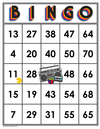 1980s<br>Bingo Cards<br><b>digital download</b>