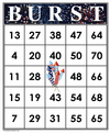 BURST<br>Bingo Cards<br><b>digital download</b>