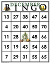 December<br>Bingo Cards<br><b>shipped to you</b>