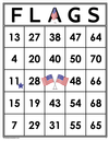 FLAGS <br>Bingo Cards<br><b>digital download</b>