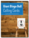 Giant Bingo Ball<br>Calling Cards<br><b>digital download</b>